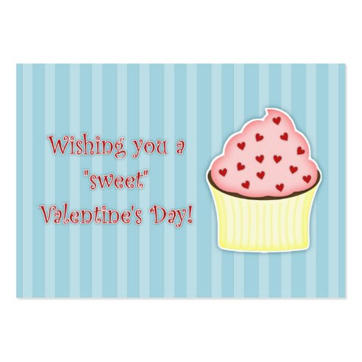 Cupcake Valentine's Day Cards Business Cards