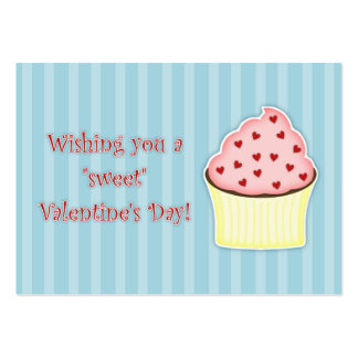 Cupcake Valentine's Day Cards Pack Of Chubby Business Cards