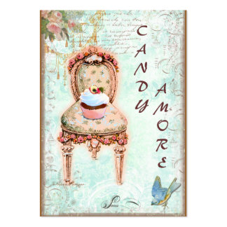 Cupcake Victorian Chair Business Cards