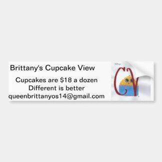 Cupcake View Advertisement Bumper Sticker