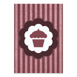 cupcake vintage 9 cm x 13 cm invitation card