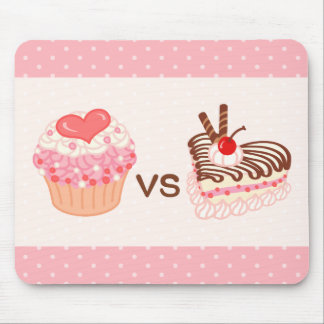 Cupcake VS Cheesecake Mouse Pad