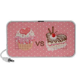 Cupcake VS Cheesecake Travelling Speakers
