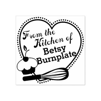 Cupcake whisk heart baking from the kitchen of rubber stamp