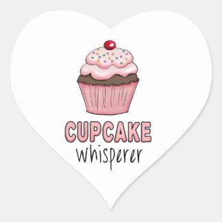 Cupcake Whisperer Heart Sticker
