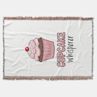 Cupcake Whisperer Throw Blanket