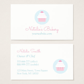 Cupcake White Frosting Pastry Bakery Cafe Business Card