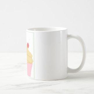 cupcake with a cherry on top basic white mug