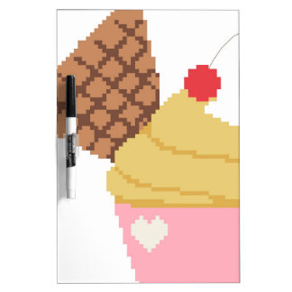 cupcake with a cherry on top dry erase whiteboards
