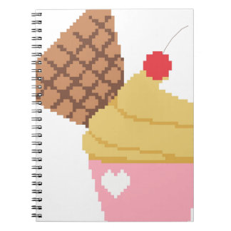 cupcake with a cherry on top notebooks