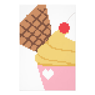 cupcake with a cherry on top personalised stationery