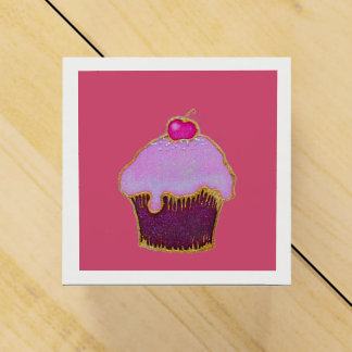 Cupcake with a yummy cherry on the top favour box