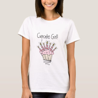 Cupcake with candles t shirt for women