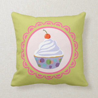 Cupcake with cherry cushions
