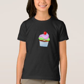 Cupcake With Cherry On Top Girls T-Shirt