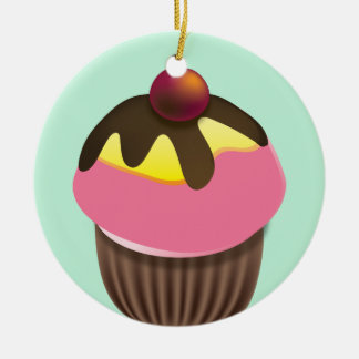 Cupcake with Cherry Ornament