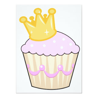 cupcake with crown custom announcement