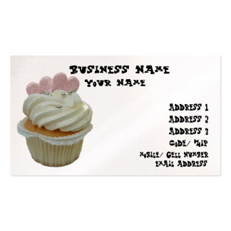Cupcake with Hearts Business Card