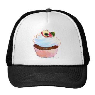 Cupcake with Pansy Art Design Trucker Cap Mesh Hat