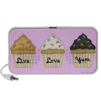 Cupcake Yum Notebook Speaker