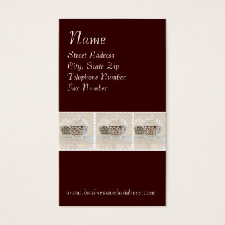 Cupcaked on Dark Brown Background Business Cards