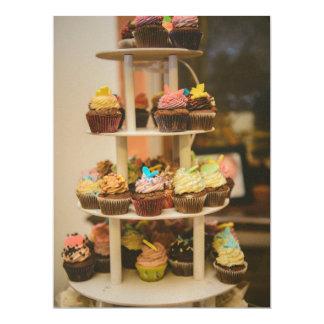 Cupcakes 17 Cm X 22 Cm Invitation Card