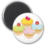 Cupcakes 6 Cm Round Magnet
