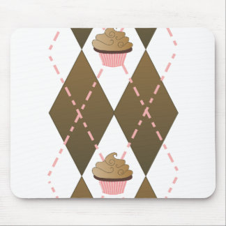 Cupcakes and Argyle Mouse Pad