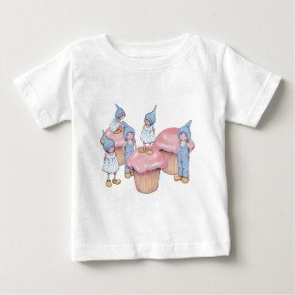 Cupcakes and Gnomes, Pink Icing, Art Tee Shirts