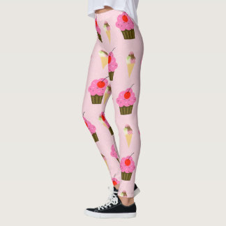 Cupcakes and Ice Cream Leggings