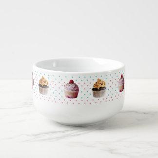 Cupcakes and polka dots Soup Mug