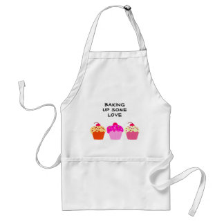 Cupcakes Baking up some Love Standard Apron