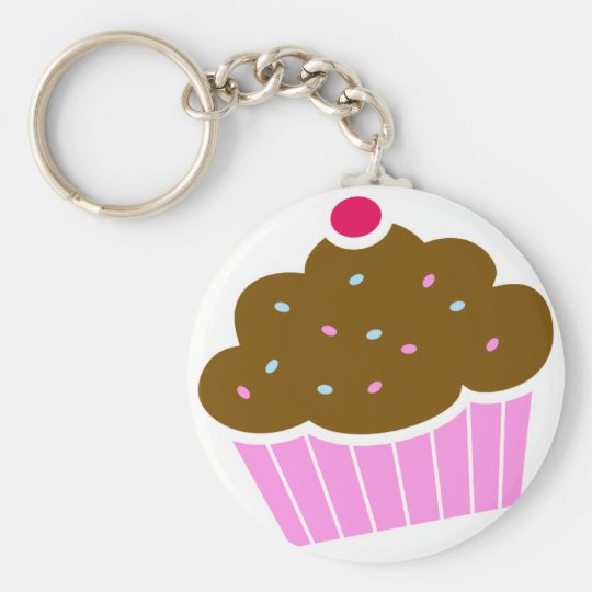 cupcakes basic round button key ring