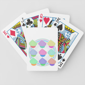 Cupcakes Bicycle Playing Cards