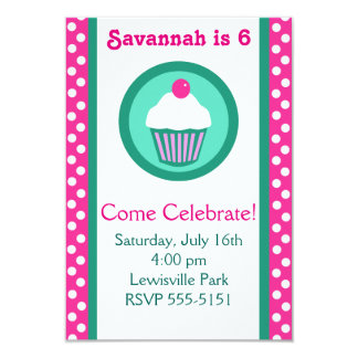 Cupcakes birthday invitation