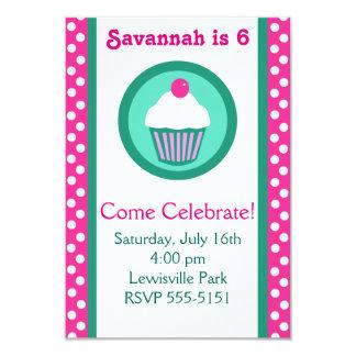 Cupcakes birthday invitation