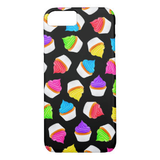 Cupcakes Black iPhone 7 Case