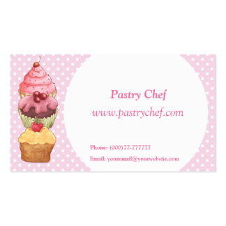 Cupcakes Cakes Pastries  Business Profile Card Business Card Template