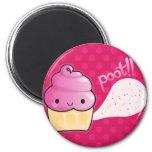 Cupcakes Fart Sprinkles Pink 6 Cm Round Magnet