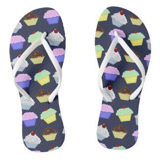 Cupcakes Flip Flops Thongs