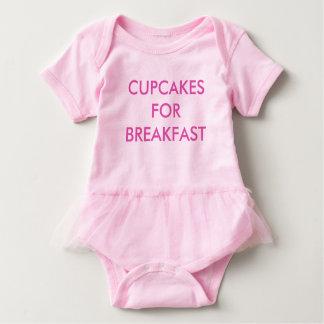 CUPCAKES FOR BREAKFAST Pink Baby Bodysuit