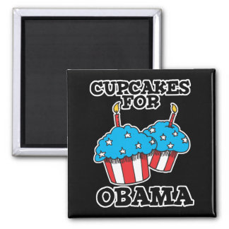 Cupcakes for Obama Square Magnet