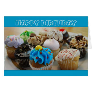 Cupcakes Happy Birthday Humor Card