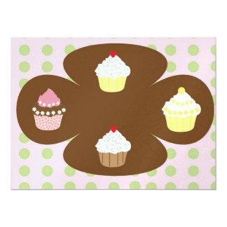 Cupcakes illustration 17 cm x 22 cm invitation card