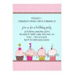 Cupcakes Kids' Birthday Party Invitations