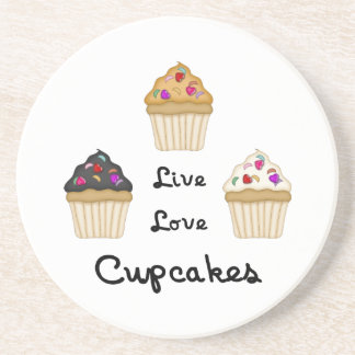 Cupcakes Live Love Coasters