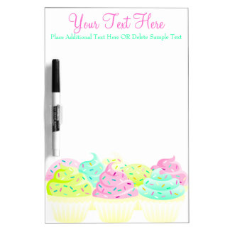 Cupcakes N Sprinkles Custom Message Board Dry-Erase Whiteboard