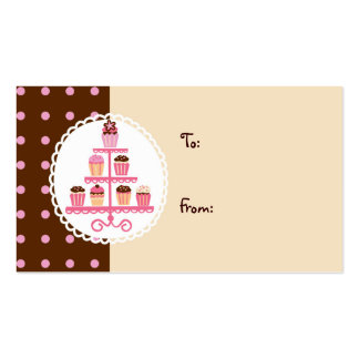Cupcakes on a Stand (Brown/Cream) Pack Of Standard Business Cards