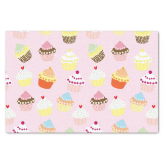 Cupcakes on pink tissue paper