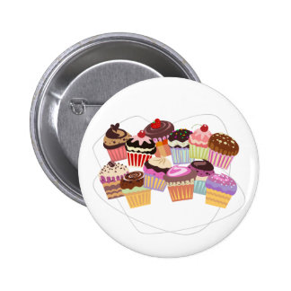 Cupcakes paradise 6 cm round badge